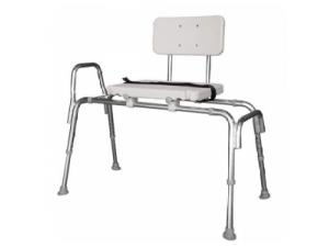 SNAP-N-SAVE SLIDING TRANSFER BENCH W/BACK