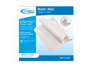 VIVERITY BATH MAT WITH SUCTION CUPS, 22.75""