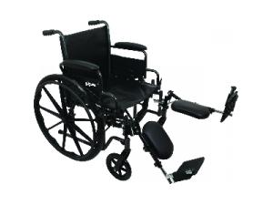 PROBASICS K2 WHEELCHAIR WITH ELEVATING LEGRESTS