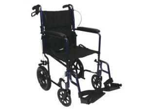 TRANSPORT CHAIR WITH 12-INCH REAR WHEELS