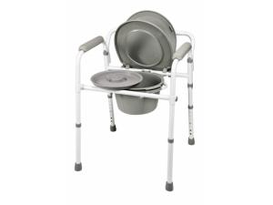 3-IN-1 STEEL FOLDING COMMODE