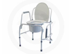 SILVER COLLECTION STEEL DROP ARM 3-IN-1 COMMODE