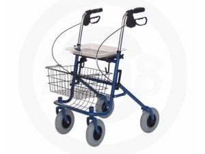 DELUXE FOUR WHEELED ROLLATOR