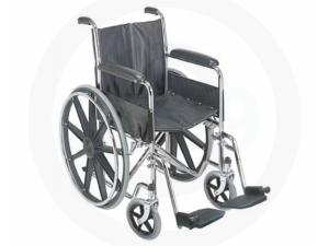 "18"" WHEELCHAIR WITH FIXED ARM RESTS"