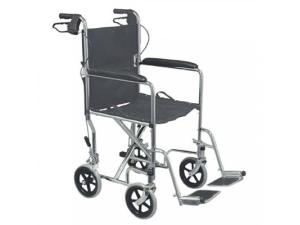 "19"" FOLDING STEEL TRANSPORT CHAIR"