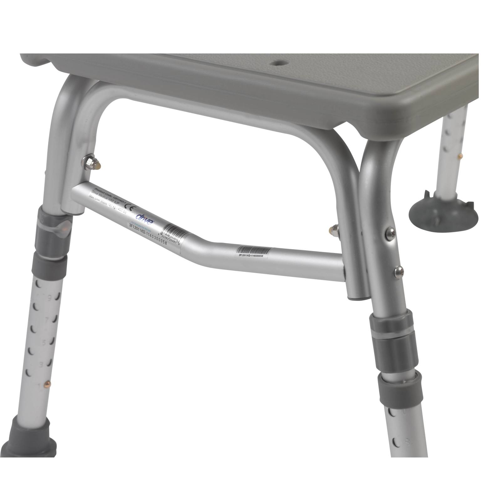 Drive Plastic Transfer Bench with Adjustable Backrest from CORTLAND ...