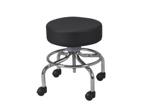 REVOLVING, ADJUSTABLE-HEIGHT STOOL