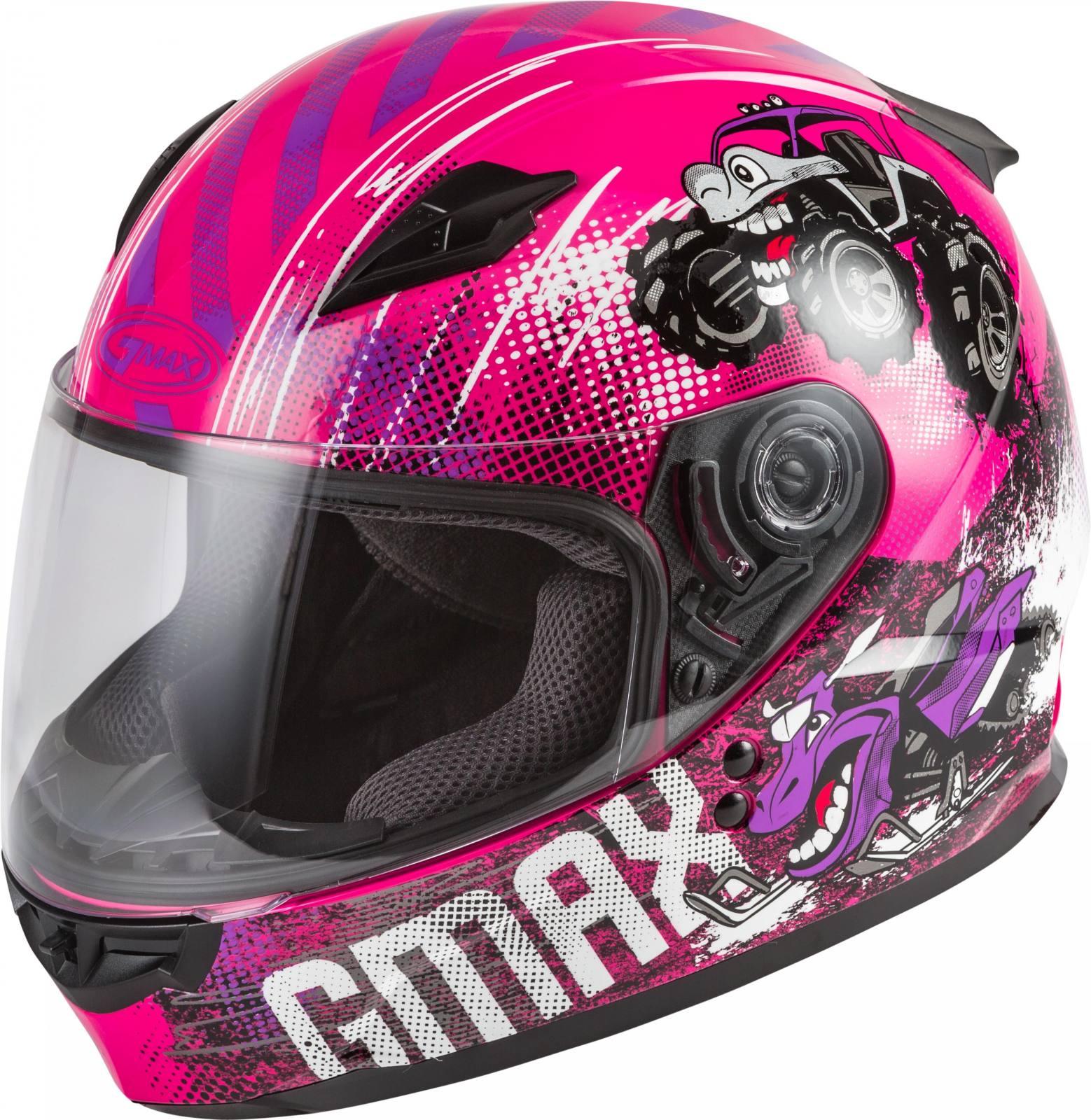 GMAX GM49Y Alien Full Face Youth Girls Motorcycle Street Riding Helmet