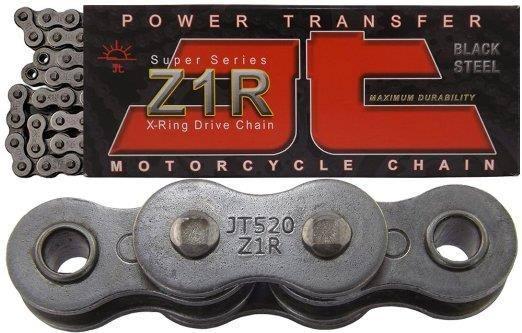 JT Sprockets JTC520Z1R120RL Steel 120-Link Super Heavy Duty X-Ring Drive Chain 520 Z1R