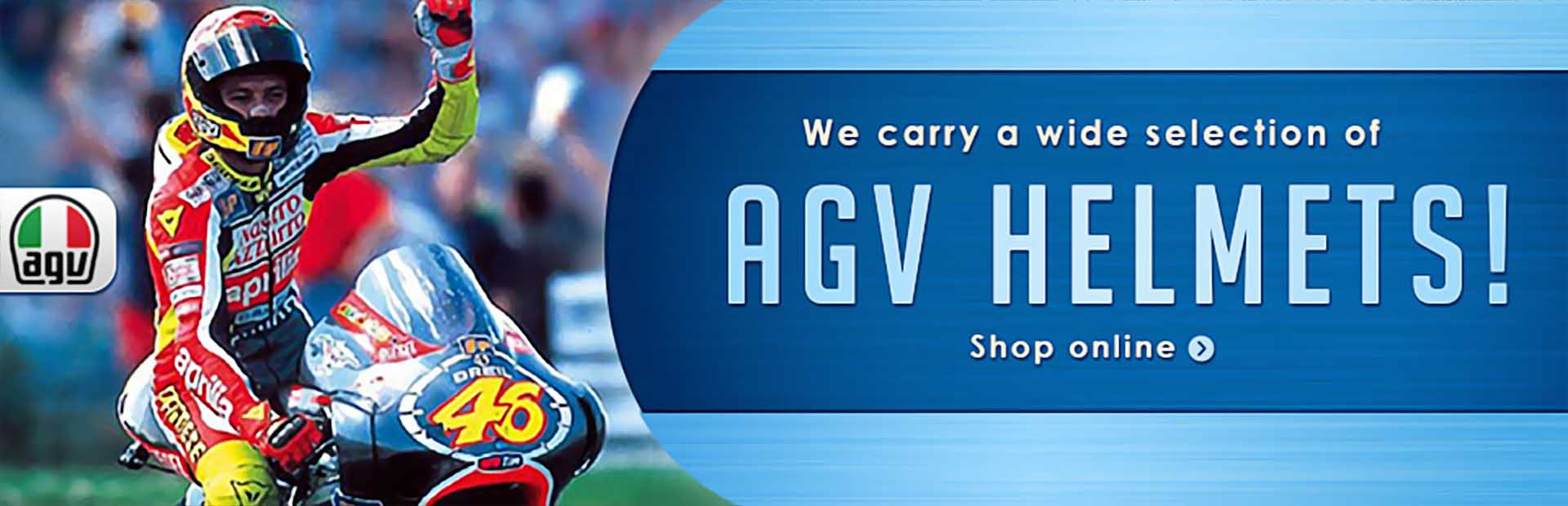 We carry a wide selection of AGV helmets! Click here to shop online.