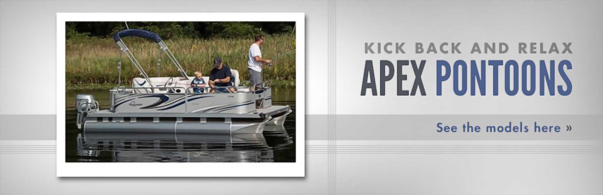 Apex Pontoons: Click here to see the models!
