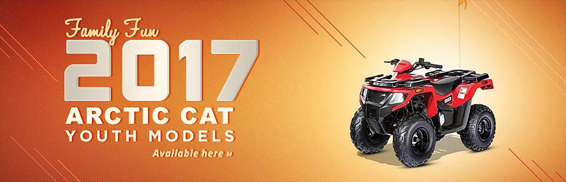 Click here to view our selection of 2017 Arctic Cat youth models!