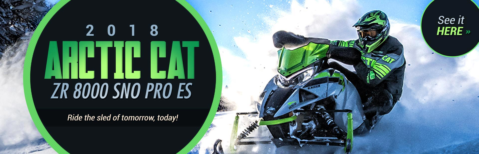2018 Arctic Cat ZR 8000 Sno Pro ES: Click here for details.