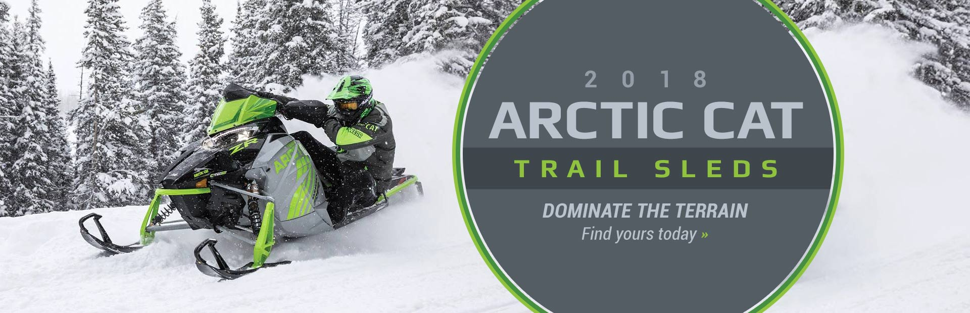2018 Arctic Cat Trail Sleds: Click here to view the models.