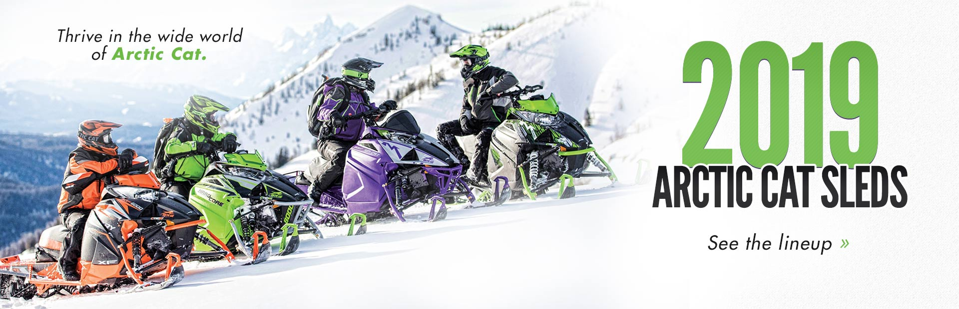 2019 Arctic Cat Sleds: Click here to view the models.