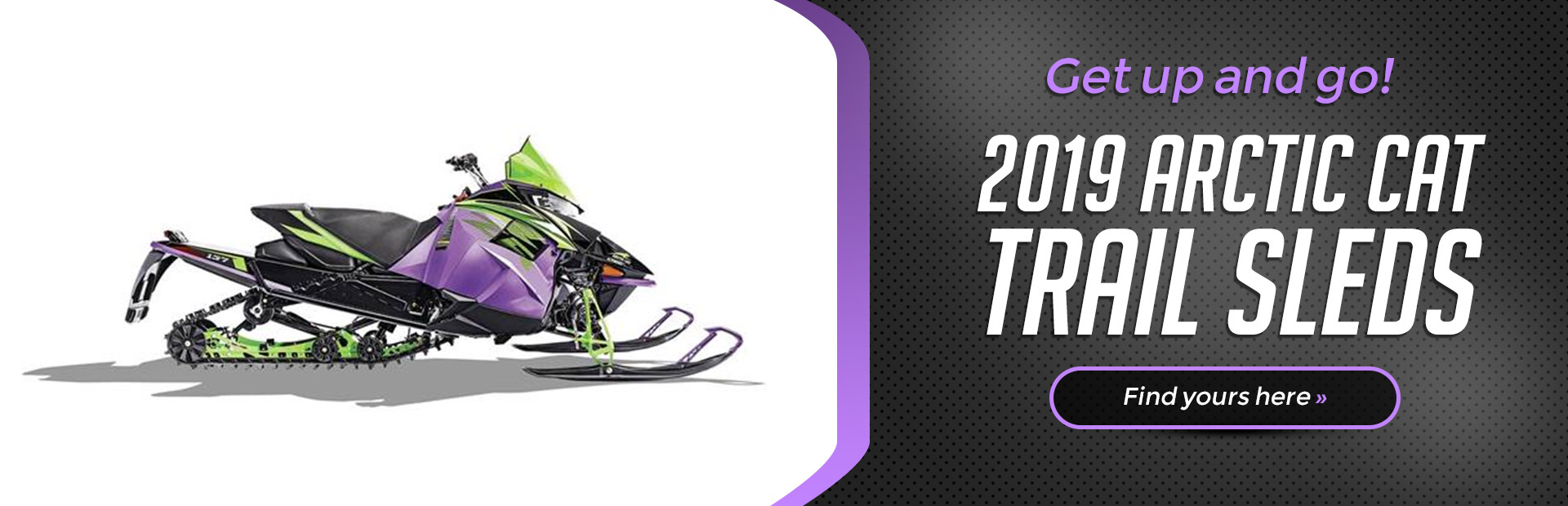 2019 Arctic Cat Trail Sleds: Click here to view the models.