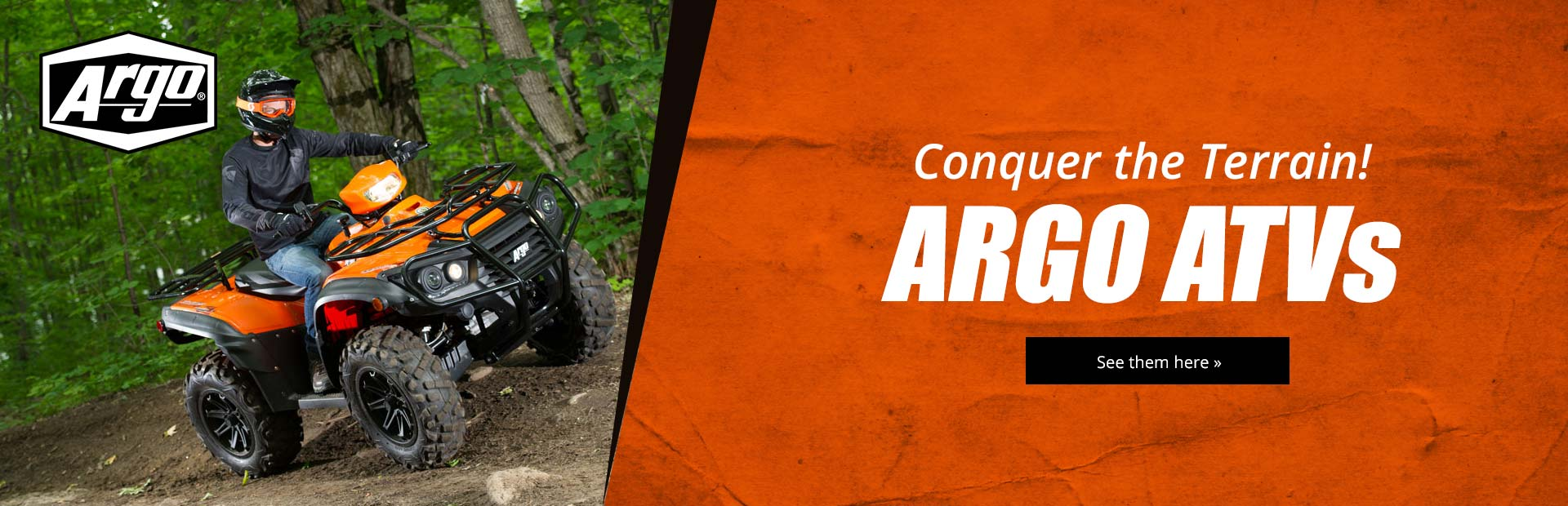 ARGO ATVs: Click here to view the models.