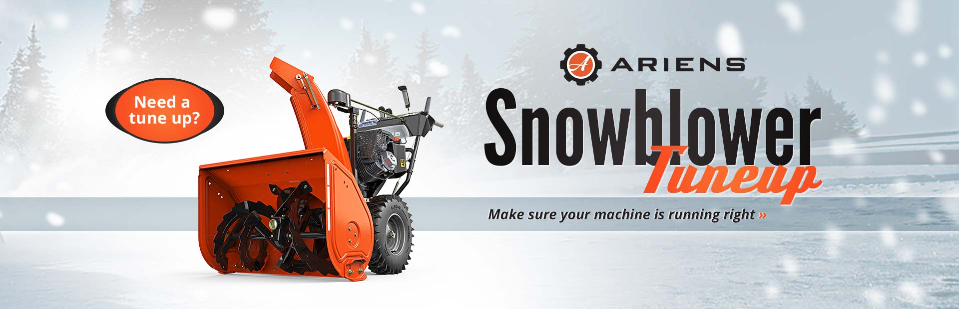 Ariens Snowblower Tuneup: Click here to view our Ariens selection!