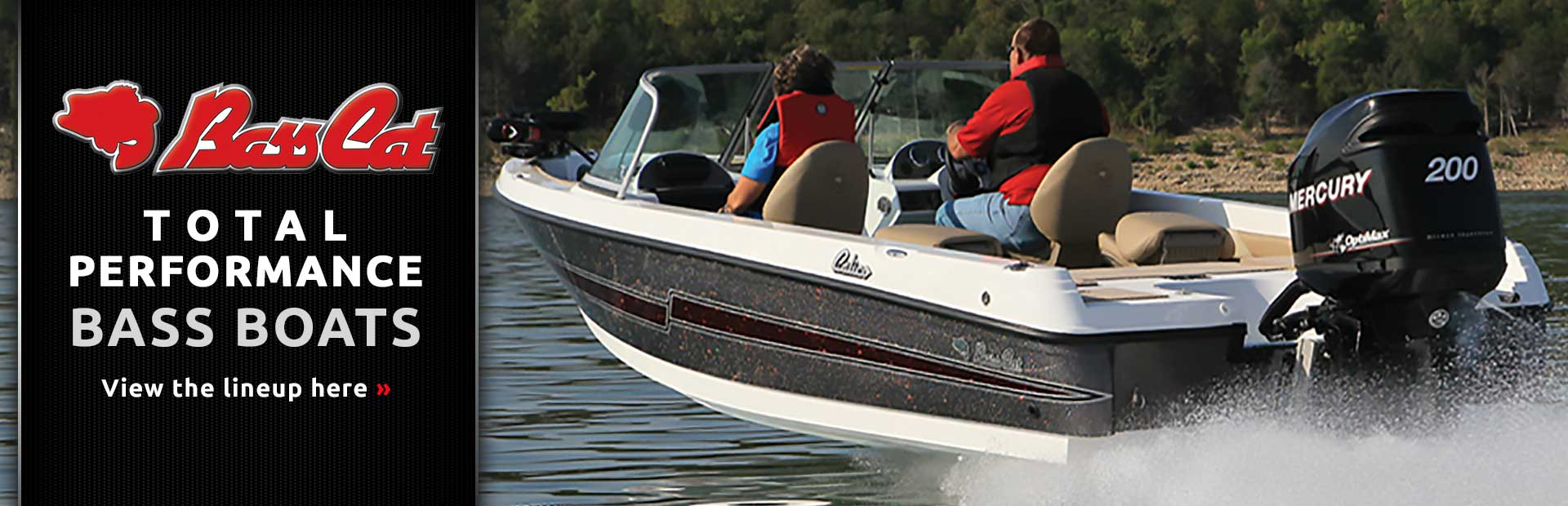 Bass Cat Boats: Click here to view the lineup.