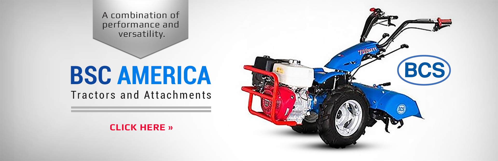 BSC America Tractors and Attachments: Click here to view the showcase!