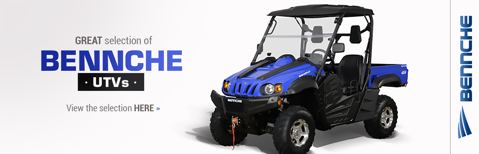 Benneche UTVs: Click here to view details!