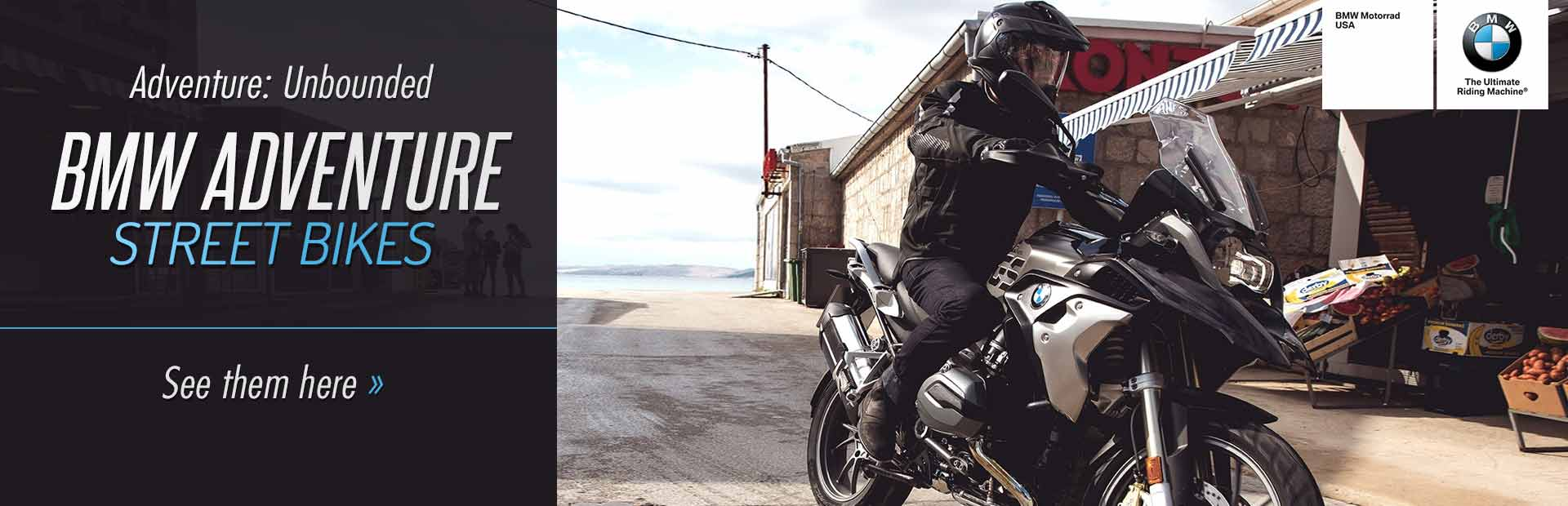 BMW Adventure Street Bikes: Click here to view the models.