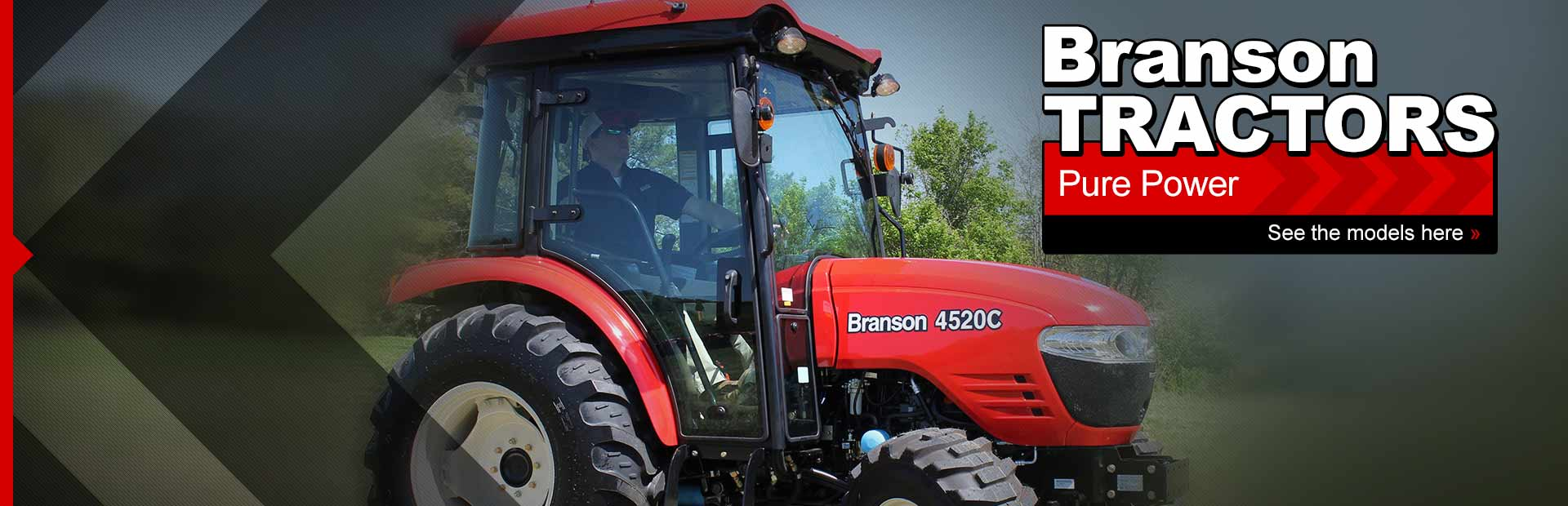 Branson Tractors: Click here to view the models.