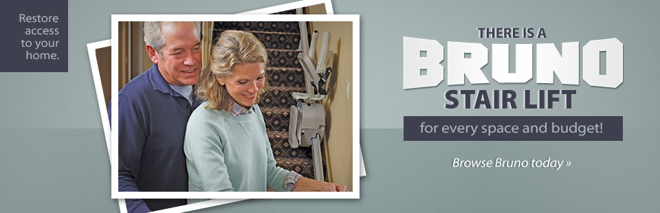 There is a Bruno stair lift for every space and budget!