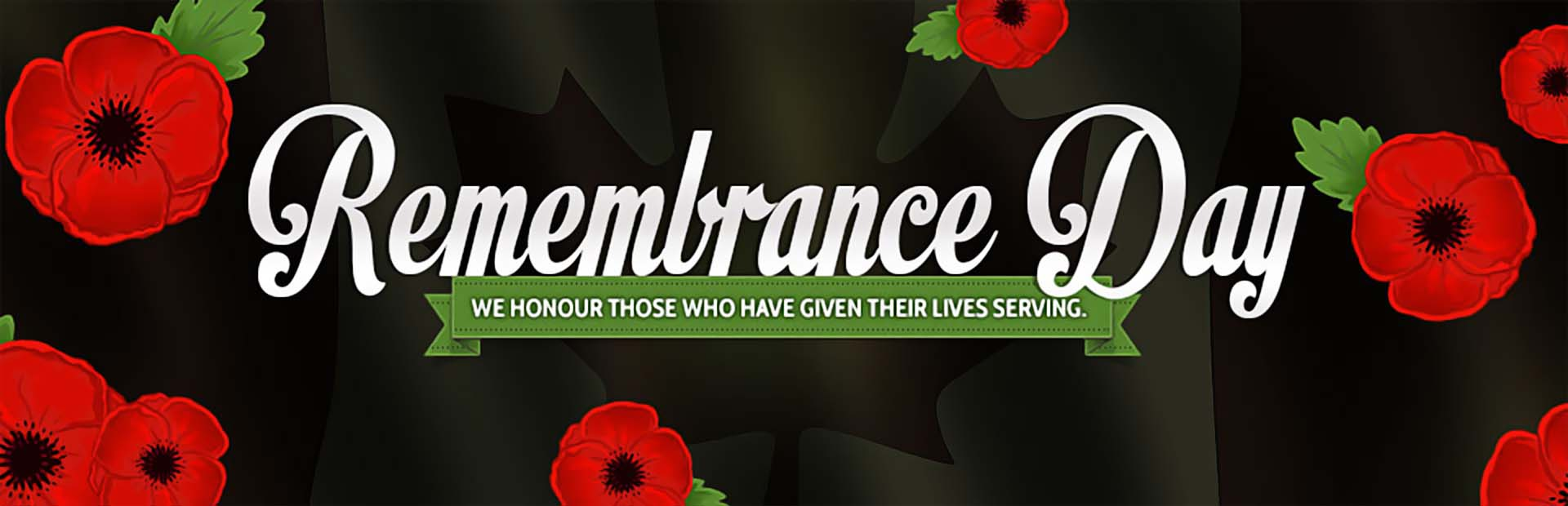 Remembrance Day: We honour those who have given their lives serving.