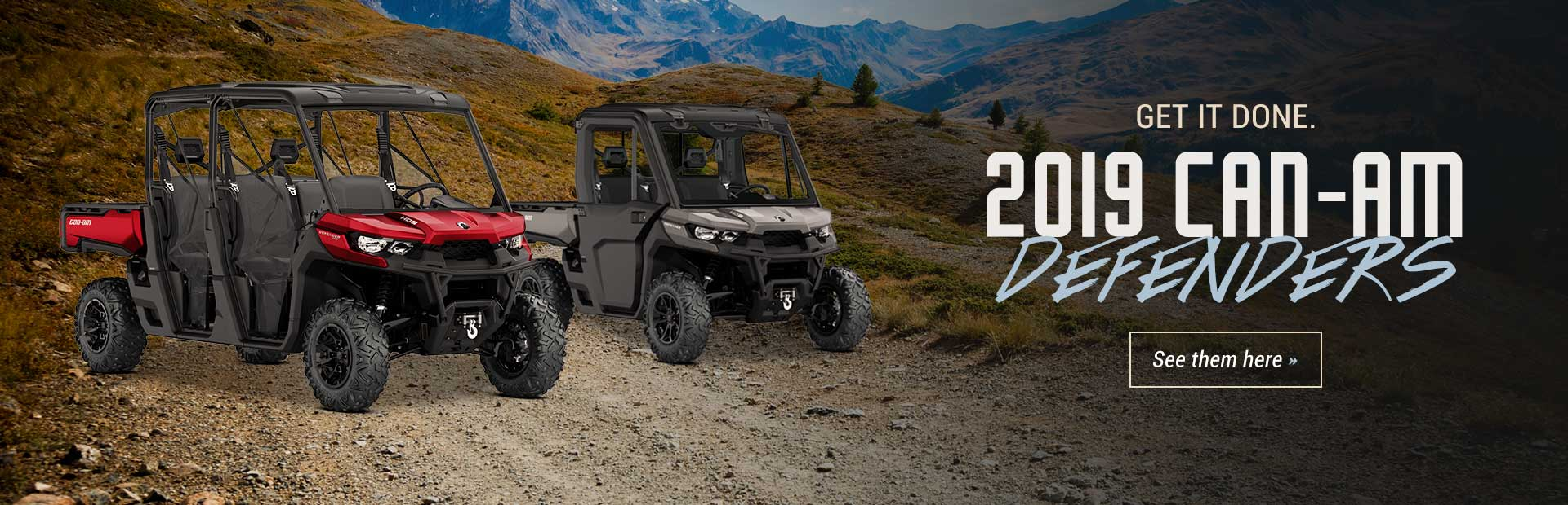 2019 Can-Am Defenders: Click here to view the models.