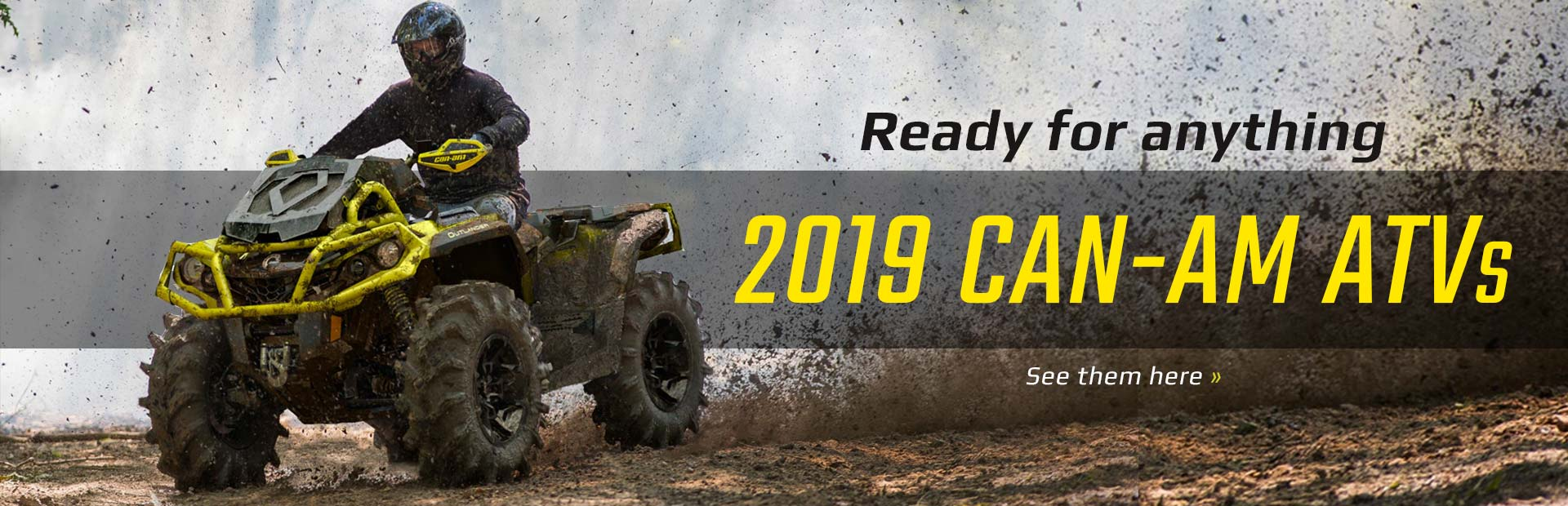 2019 Can-Am ATVs: Click here to view the models.