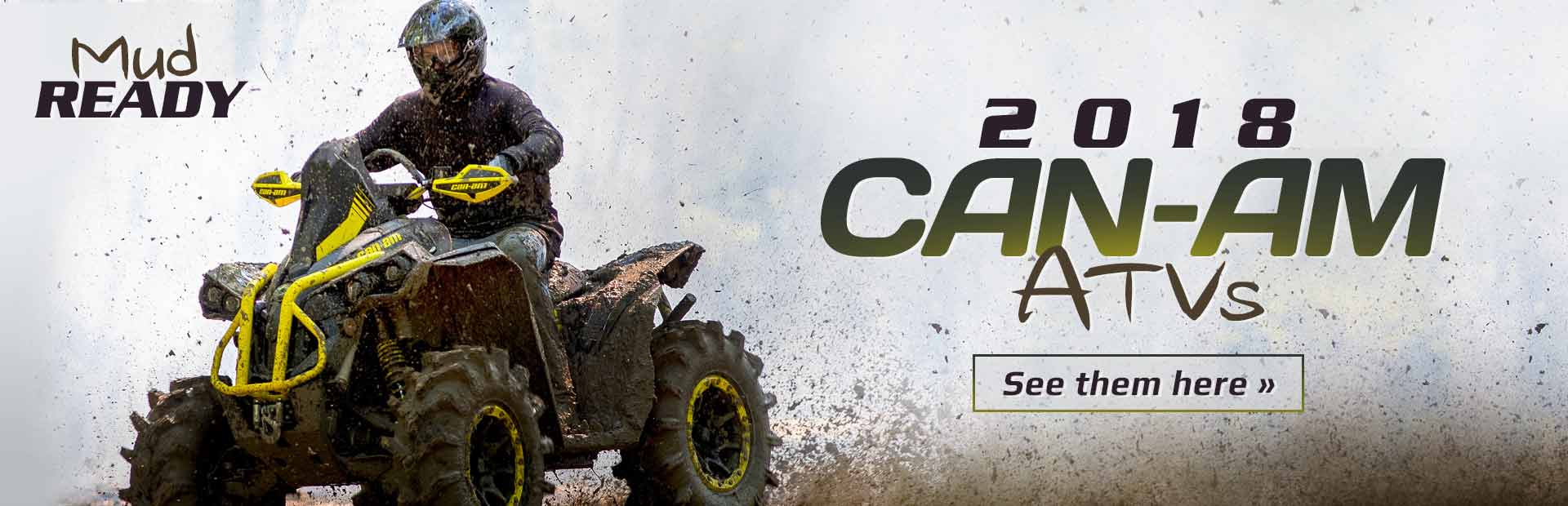 2018 Can-Am ATVs: Click here to view the models.