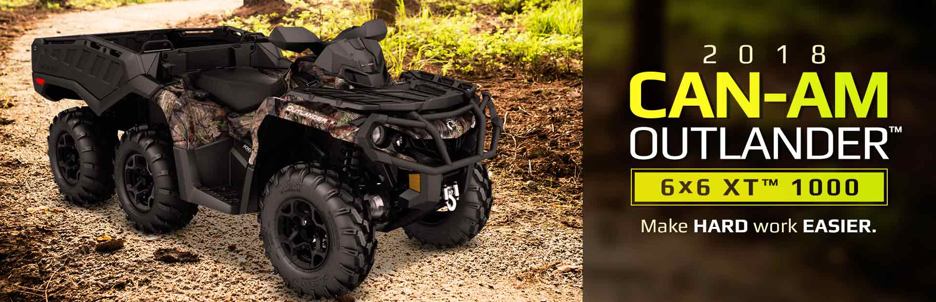 2018 Can-Am Outlander™ 6x6 XT™ 1000: Click here to view the model.