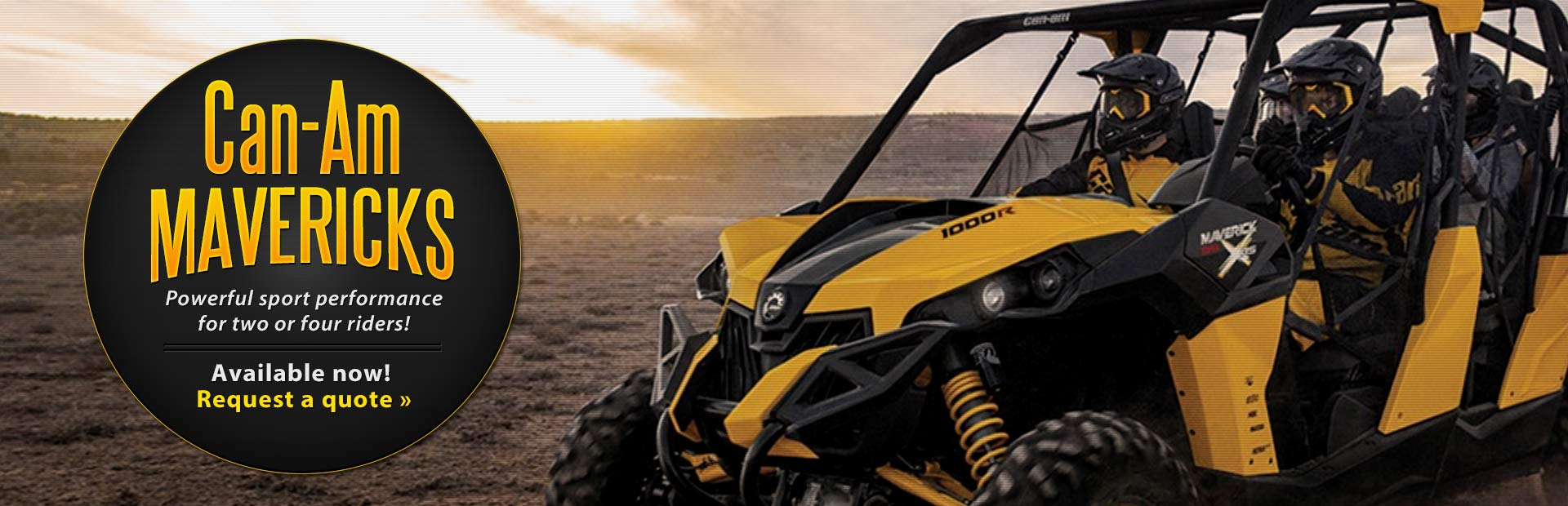 View the new Can-Am Mavericks.