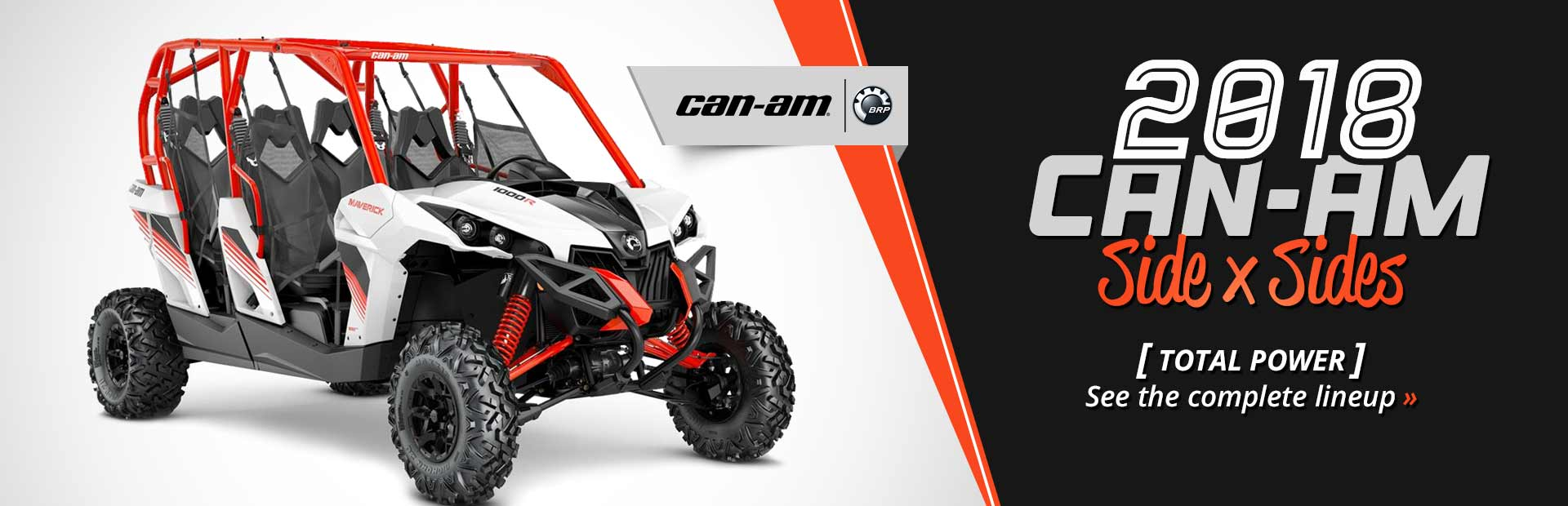 2018 Can-Am Side x Sides: Click here to view the models.