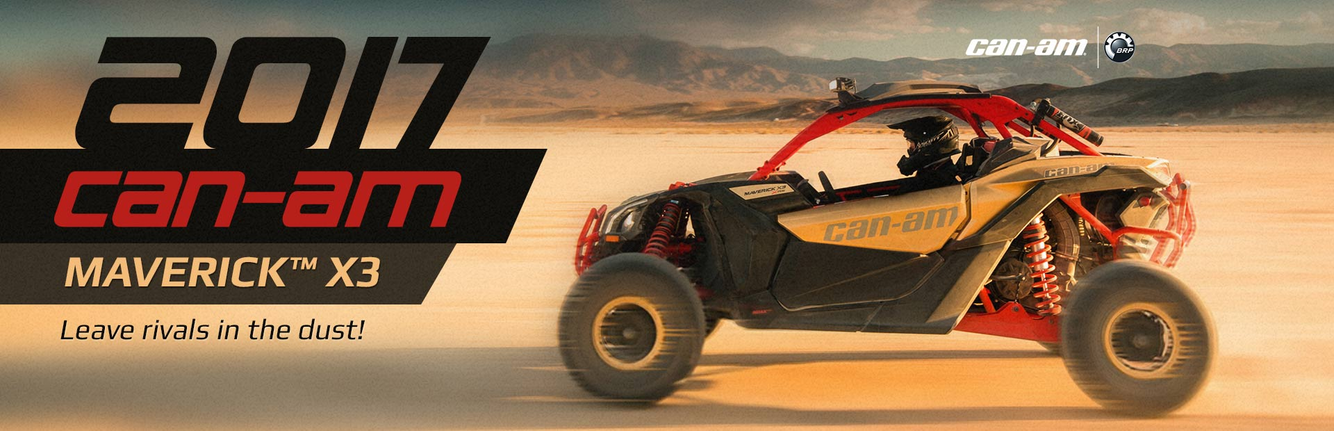The 2017 Can-Am Maverick™ X3: Click here for details.