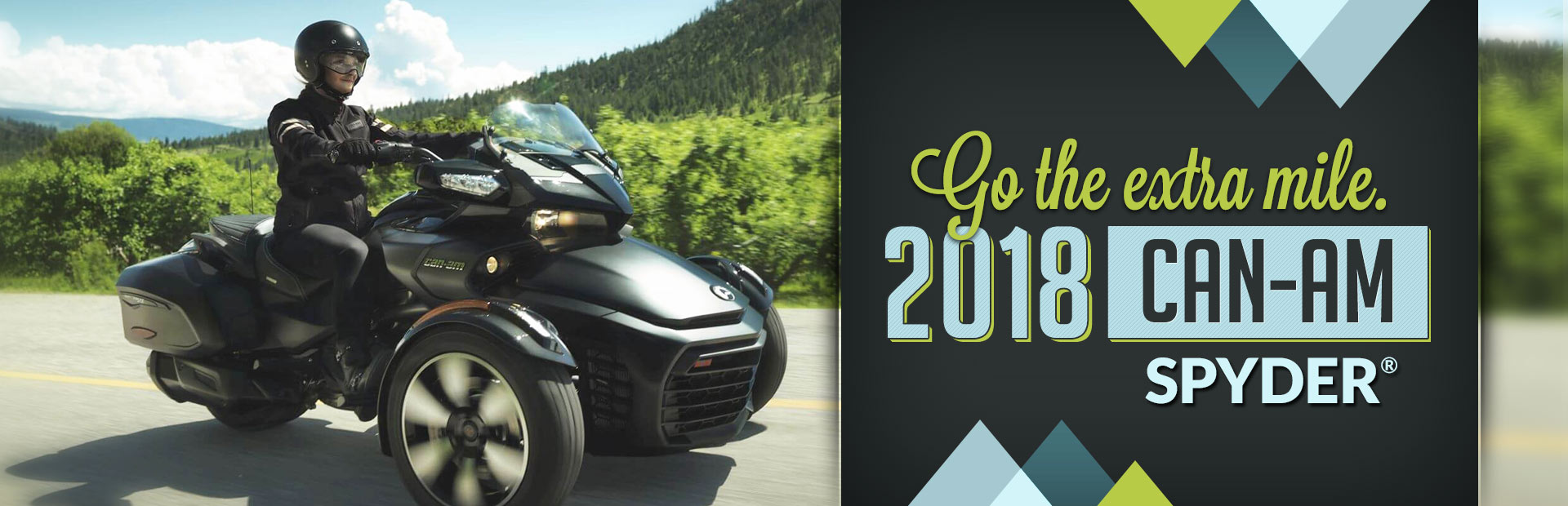 2018 Can-Am Spyder®: Click here to view the models.