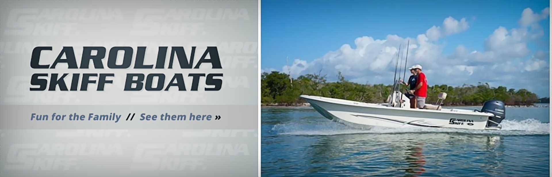 Carolina Skiff Boats: Click here to view the models.