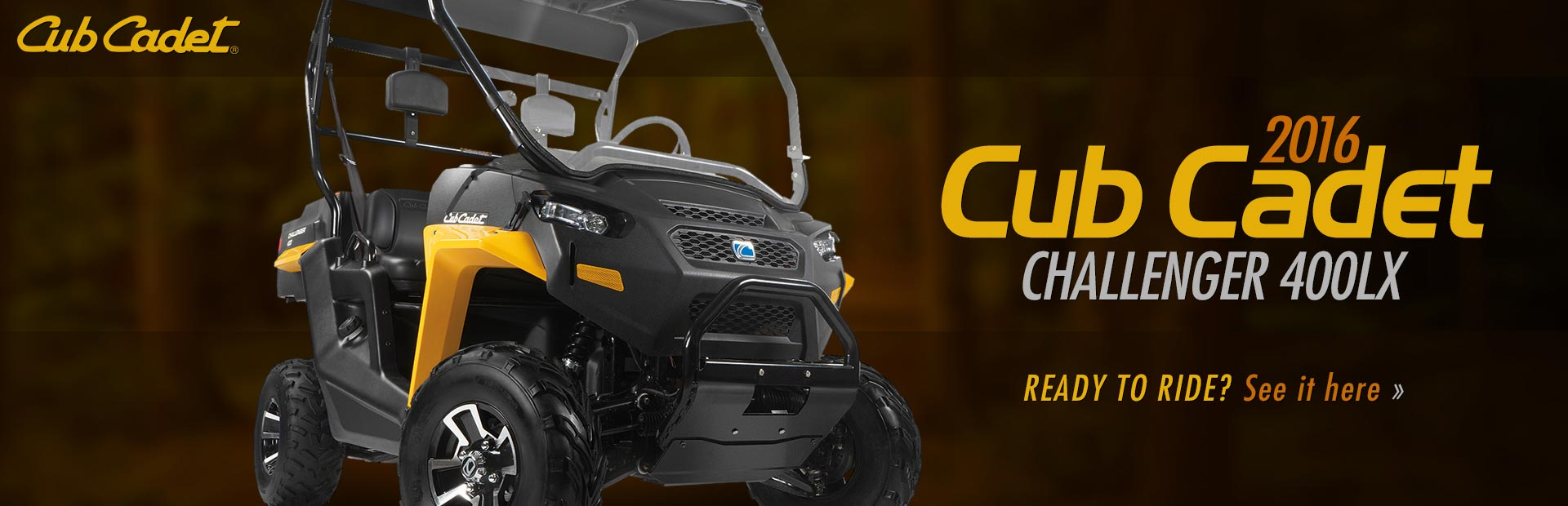 2016 Cub Cadet Challenger 400LX: Click here to view the model.