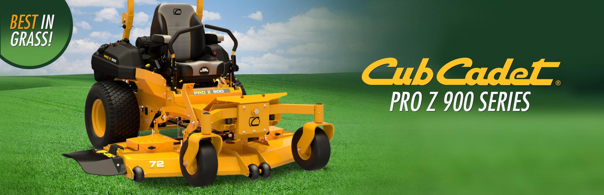 Cub Cadet PRO Z 900 Series: Click here to view the models.