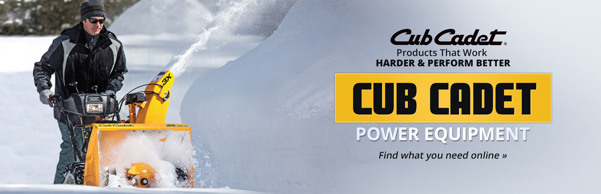 Cub Cadet Power Equipment: Click here to view the models.