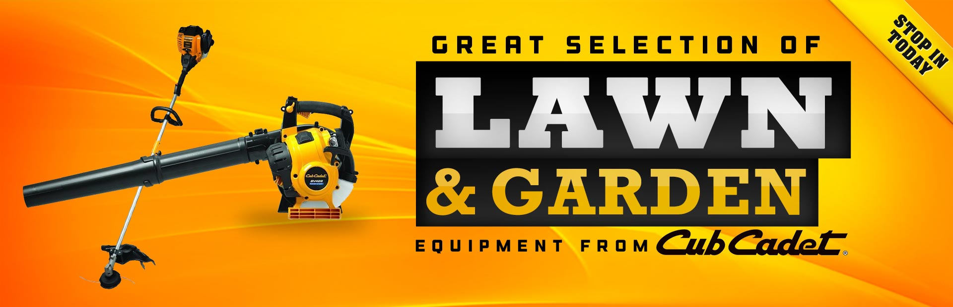 Click here to view lawn and garden equipment from Cub Cadet!