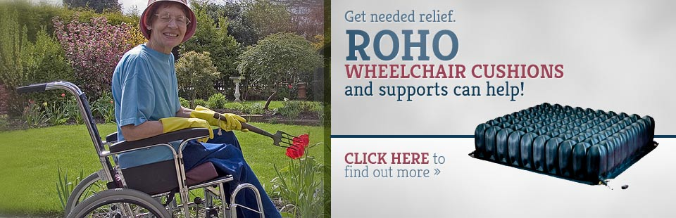 Browse ROHO wheelchair cushions and supports.