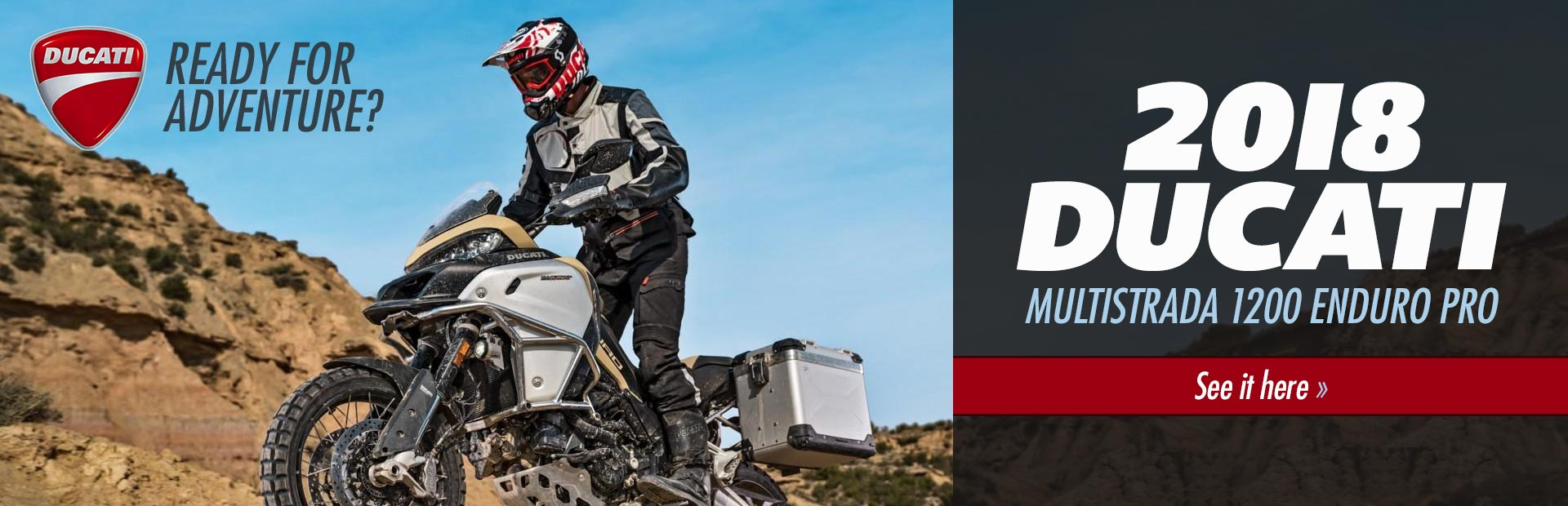 2018 Ducati Multistrada 1200 Enduro Pro: Click here to view the model.