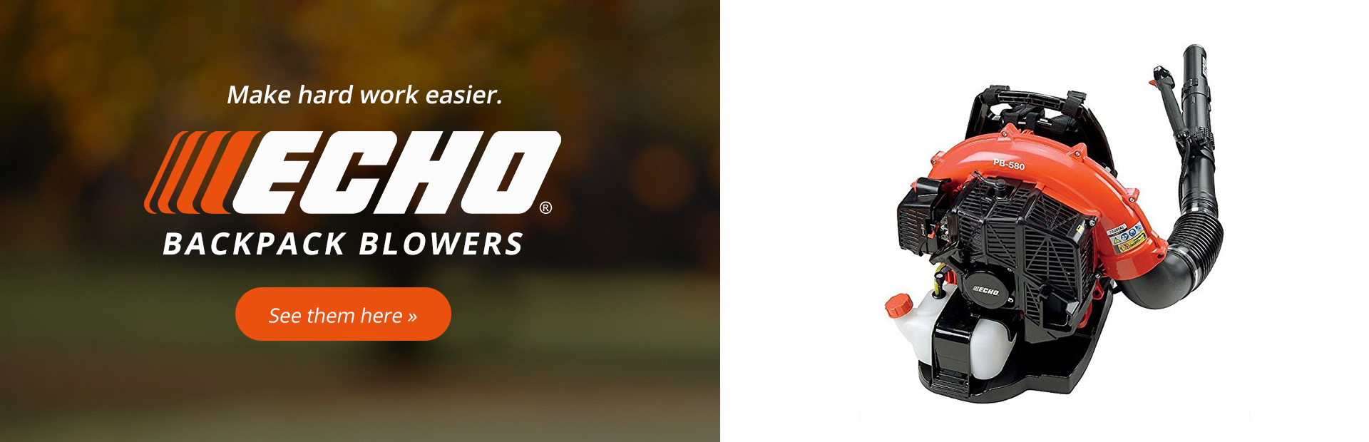 ECHO Backpack Blowers: Click here to see the models.