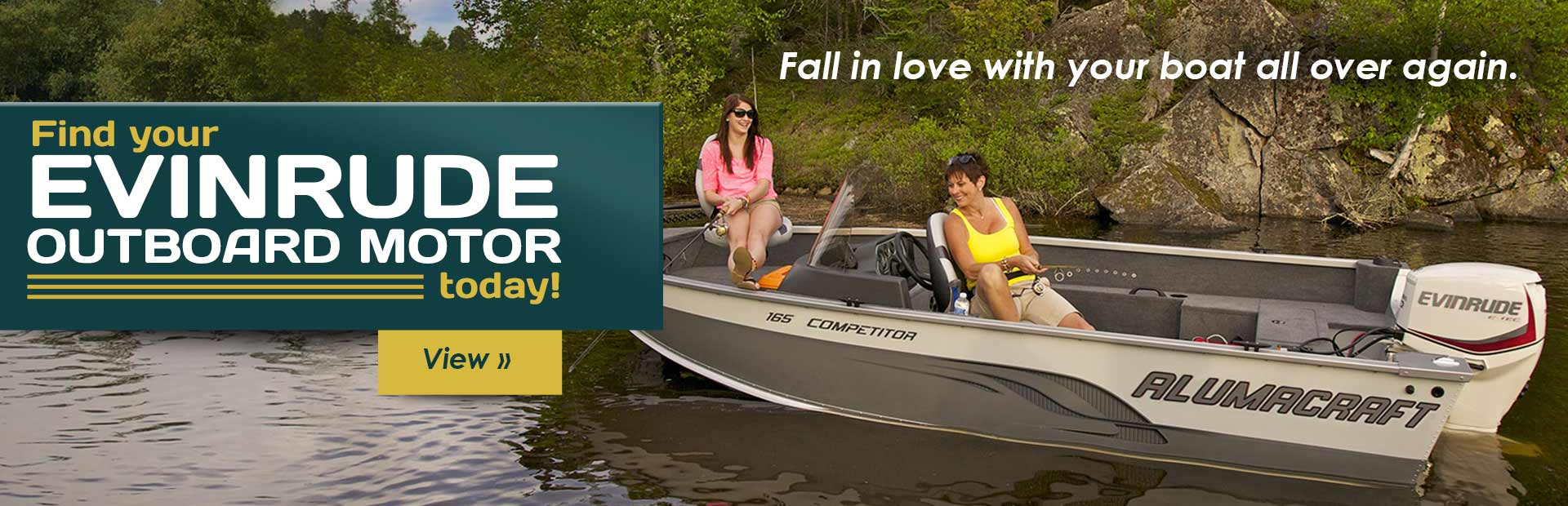 Click here to browse our selection of Evinrude outboard motors, and fall in love with your boat all