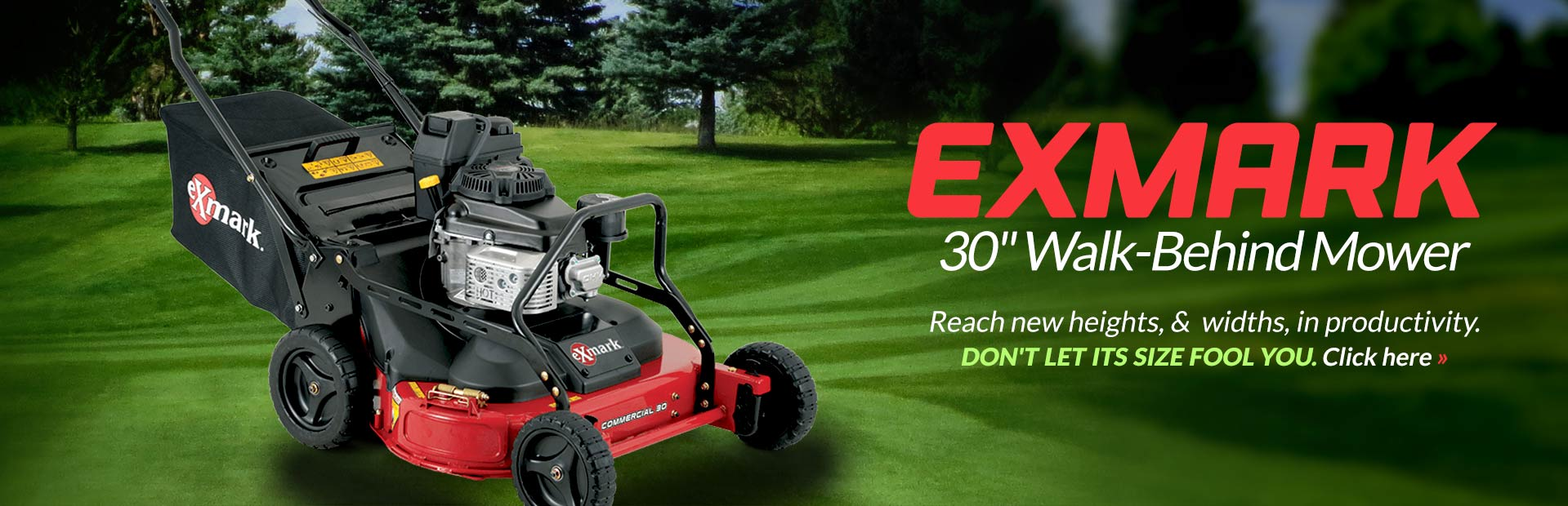 Exmark 30-Inch Walk-Behind Mower: Click here to view the model.