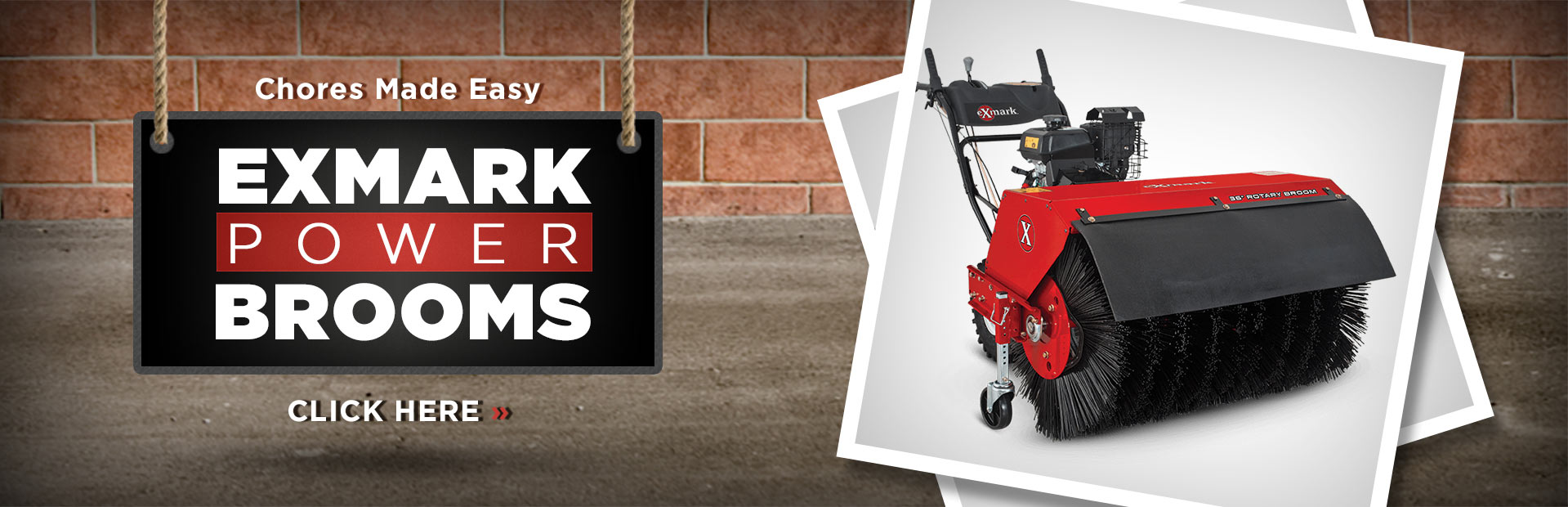 Click here to view our selection of Exmark power brooms!