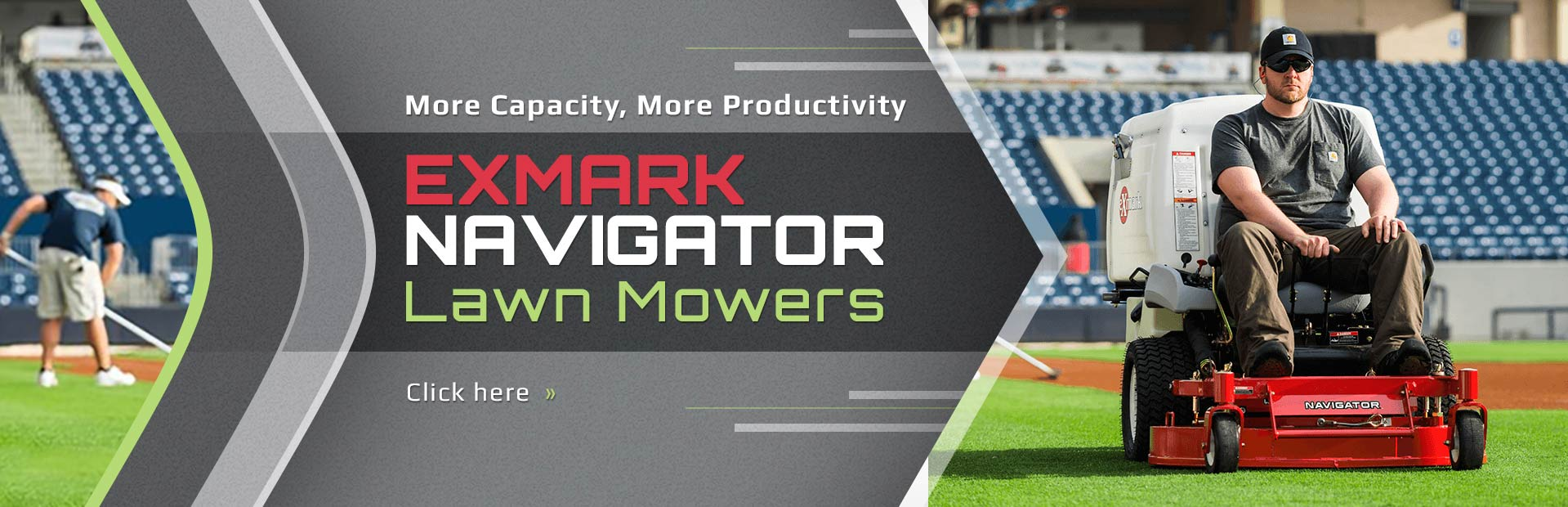 Click here to view our selection of Exmark Navigator lawn mowers!