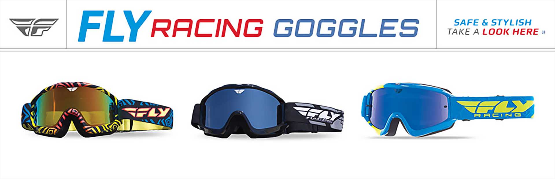 Fly Racing Goggles: Click here to shop online.